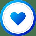 אייקון לב פייסבוק